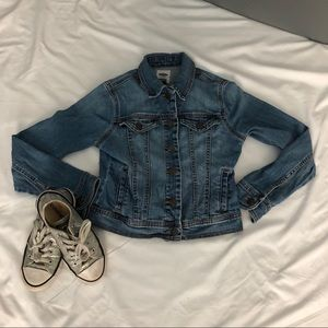 Girl's Denim Jacket Old Navy Washed Out Isze 10/12